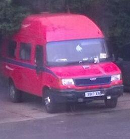 LDV Convoy 2.5 Deisel Van (registered as camper) Non-starter