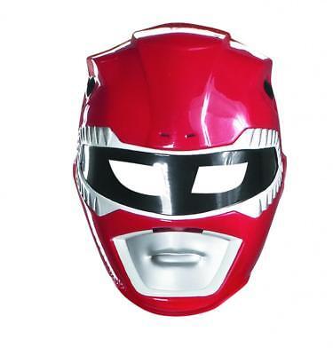 Herren Erwachsene Mighty Morphin Power Rangers Kunststoff Rot Maske Kostüm