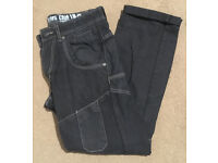 Mens black jeans with white detailing - 30/32