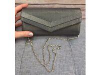 NEW Grey Shimmer Clutch Bag