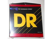 """DR """"HI-BEAM"""" BASS GUITAR STRINGS. MADE IN USA. BRAND NEW AND UNOPENED."""