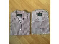 Two Girls Victoria College School Summer Blouses Size 34 Approx 12 - 13