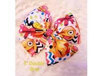 Girls handmade emoji hair bows clips 😍