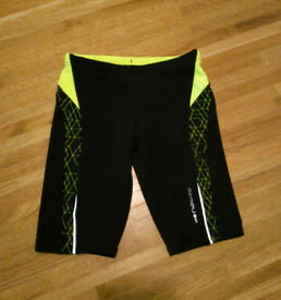 black & yellow jammers / swim trunks, size 8 years