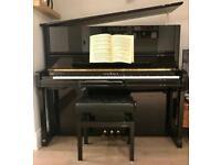 Schimmel K132 upright piano, silent system