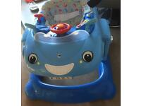 Mothercare 3 in 1 blue car/ baby walker