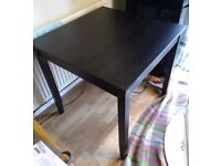 Ikea Black Square Dining Table 100cm FREE DELIVERY 344