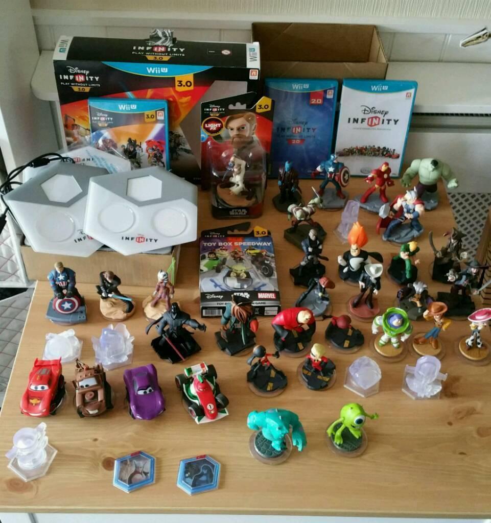 Disney Infinity 1 0 2 0 And 3 0 Wii U Inc 33 Figures