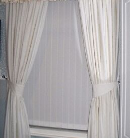 1-pair of cream curtains