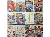 Nintendo Wii console with 12 games and gadgets