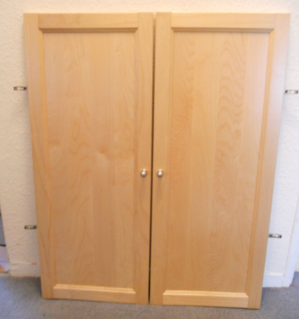 Ikea Billy Bookcase Doors Birch 25 A Pair