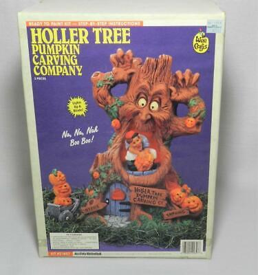 NIB ACCENTS UNLIMITED HOLLER TREE PUMPKIN CARVING ! WEE CRAFTS CERAMICS! #21657
