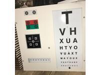 Vintage opticians eye tester lamp
