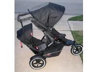 Phil and Ted Explorer double buggy with lots of accessories