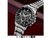 Mens Citizen Eco-drive Chrono Perpetual A-T Radio Controlled Alarm Chronograph Stainless Steel Watch