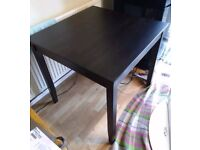 Ikea Black Square Dining Table 100cm FREE DELIVERY 457