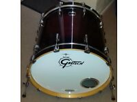 Gretsch Renown Bass Drum 22 x 18 in Cherry Burst Lacquer, Virgin Shell, Great Condition