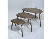 Vintage Ercol Pebble Tables Set Of Tables Nest Of Tables