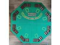 Table Top Poker Board + Chip Set