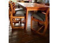 Vintage Danish Inspired Mid Century Teak Dining Chairs