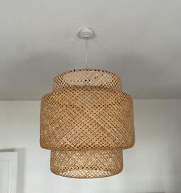 IKEA SINNERLIG bamboo lampshade - optimised for rental