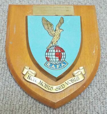 Royal Air Force Association RAFA Military Wall Plaque Crest Shield Insignia RAF Air Force Insignia Wall