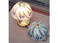 """Matching Table Lamp and Central Shade - Glass """"TOUCHLITE"""" Feature"""