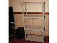 PLASTIC SHELVING UNIT FOR HOME GARAGE OR OFFICE ETC
