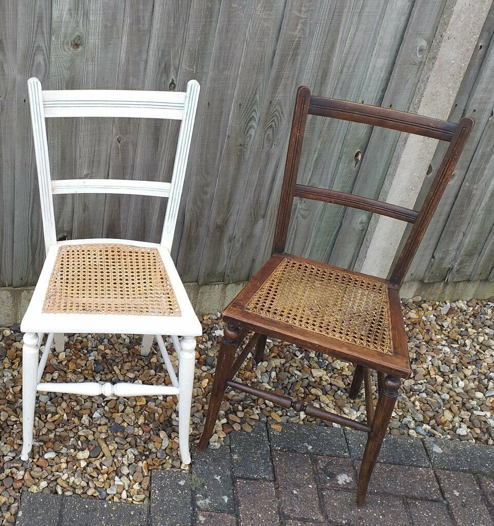 Pair Of Identical Cane Seated Chairs In Norwich Norfolk