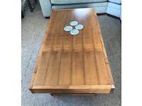 Bentley Designs Akita Walnut Rectangular 1 Drawer Coffee Table