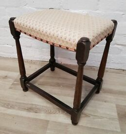 Vintage Dressing Table Stool (DELIVERY AVAILABLE FOR THIS ITEM OF FURNITURE)