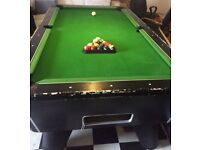 American Pool Table 7ft 4ft Bought For £1250 Needs New Cloth, Has Highest Quality Slate