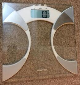 Salter Ultra Slim Analyser Bathroom Scales, Measure Weight BMI. Boxed.