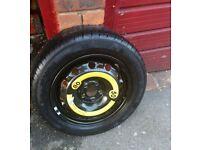 Genuine Skoda Fabia MK 2 Full size spare wheel. 195/55 R15 Continental tyre.