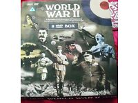 8 DVD COLLECTION OF DOCUMENTARY & ORIGINAL FOOTAGE OF WORLD WAR II.