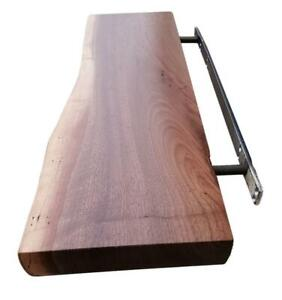 Live Edge Solid Wood Floating Shelves - FREE SHIPPING