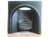 Cast iron hearth - nice condition and complete