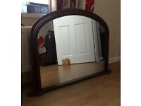 Old Vintage Mantle Mirror Shabby Chic Project