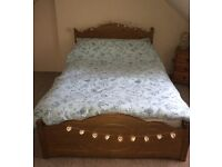 Double bed with 4 drawers storage