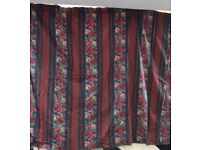 Curtains flowery design
