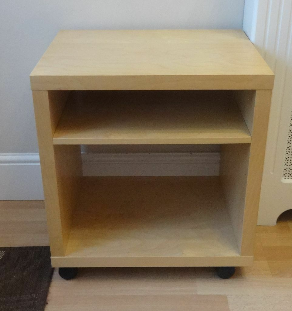 Ikea tv entertainment beech stand unit or side table on - Ikea table tv ...