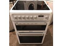 HOTPOINT GLASS PLATE 60CM ELECTRIC COOKER EXCELLENT CONDITION, 4 MONTH WARRANTY