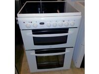 Indesit 60cm Electric cooker with fan oven, Grill, Ceramic Hob