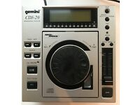 Gemini CDJ-20 top load pro CD player w/ pitch control, anti-shock memory buffer