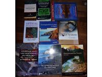 Earth Science, Geology Text Books, University, 9 Books