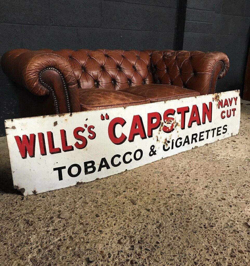 Vintage Industrial Antique Enamel Sign