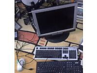Monitor, 2 key baoards and a mouse, working. Collection Norwich