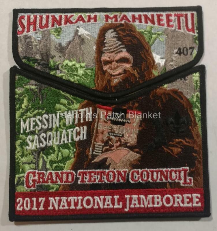 Shunkah Mahnteetu Lodge 407 2017 Nat Jambo Jack Links 2-piece Mint FREE SHIP