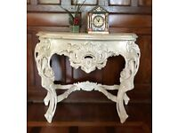French Shabby Chic Antique Hall Table