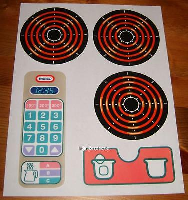 Little Tikes Country, Victorian OR Family Kitchen Sticker Decals SET of 4 OR 5